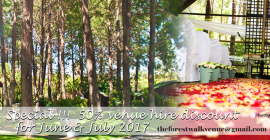 Forest Walk - 50% Venue Hire Discount