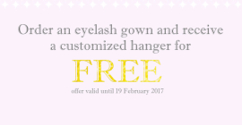 Vows - Free customized hanger with your eyelash gown