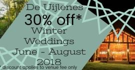 De Uijlenes Winter Special - 30% OFF Venue Fee