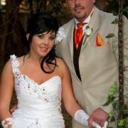 beige, suit, wedding dress