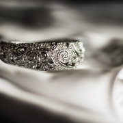 wedding ring, black and white