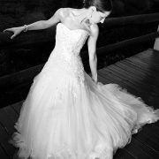 black and white, bride, wedding dress