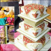 3 tier cake, cake, indian