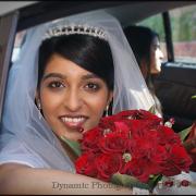 bouquet, tiara, makeup