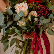 bouquet, greenery, roses