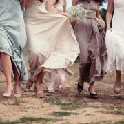 bridesmaid dress, shoes