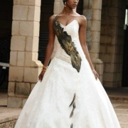 african, bride, wedding dress
