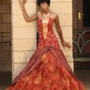 african, wedding dress