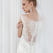 wedding dress, earrings