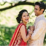 bride and groom, hairstyle, headpiece, sari, suit