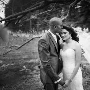 black and white, bride and groom, suit, veil, wedding dress