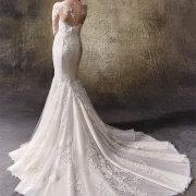 wedding dress, lace, mermaid