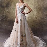 wedding dress, beads