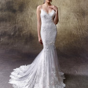 beads, mermaid, wedding dress