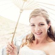 bride, makeup, parasol