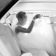 bracelet, car, earrings, hairstyle, veil, wedding dress