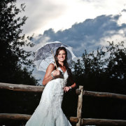 umbrella, wedding dress