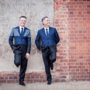 groom, groomsmen, suit