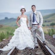 suit, wedding dress, headpiece