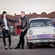 couple, car