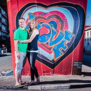 city, couple