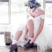 headpiece, wedding dress, wedding shoes, brides shoes