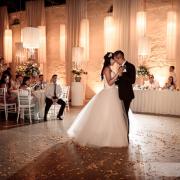 dance, dance floor, suit, wedding dress