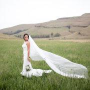 bride, mountain, veil