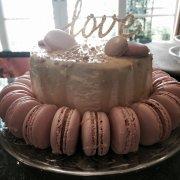 cake, macaroon