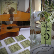 stationery, table numbers