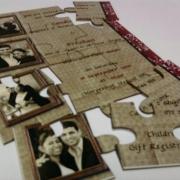 puzzle, wedding invitation, wedding stationery