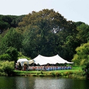 tent, ceremony, outside ceremony, outdoor ceremony