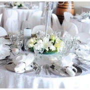 decor, wedding venue, white