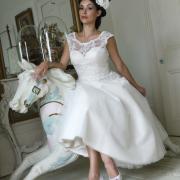 shoes, wedding dress