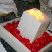 candles, petals
