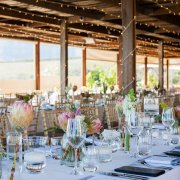 decor, glassware, protea, table setting, table setting