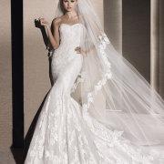 dress, wedding dress, veil