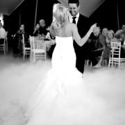 bride & groom, black