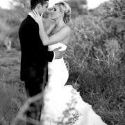bride and groom, bushveld
