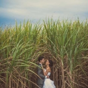 bride and groom, feature shot