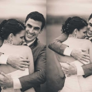 bride and groom, sepia