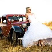 car, shoes, wedding dress