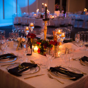 table decor with candles