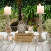 candles, table numbers