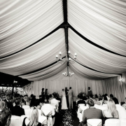 ceremony, wedding venue, draping