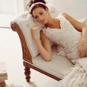 bridal wear, cream, lace, wedding dress, white