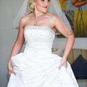 makeup, necklace, veil, wedding dress