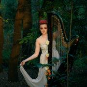 entertainment, forest, harp, music