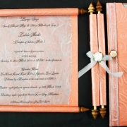 peach, wedding invitation, wedding stationery