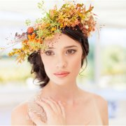 flower crown, makeup
